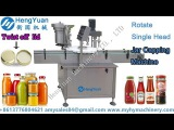 Rotating disc type single head capping machine for metal twist off cap