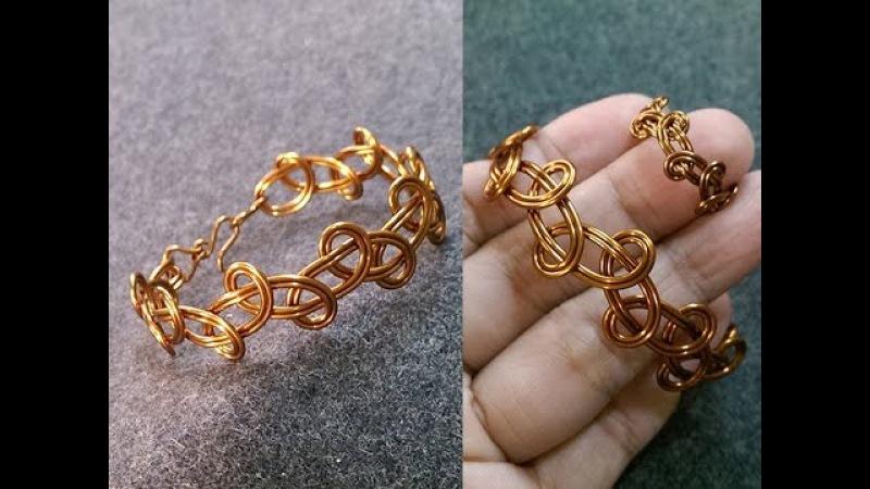 Simple knot bracelet - Idéias de jóias artesanais 236