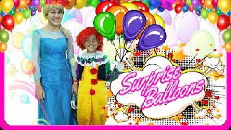 IT Elsa Giving Gifts Balloons To Kids | Outdoor Fun Playground For Kids | Jessi and Nick Show