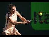 2018 Miami Second Round | Simona Halep vs. Océane Dodin | WTA Highlights