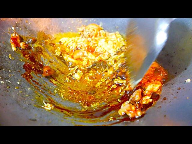 Indonesian Street Food - Nasi Goreng Ayam - Chicken Fried Rice
