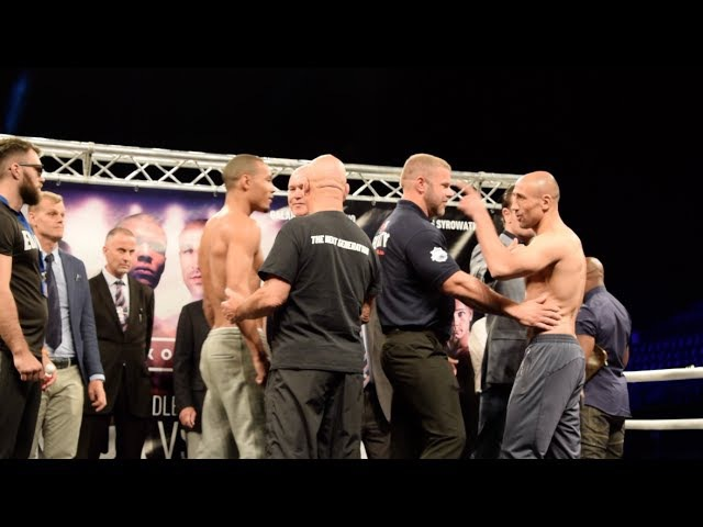 DRAMA! ABRAHAM FAILS WEIGHT SPLIT BY SECURITY- CHRIS EUBANK JR v ARTHUR ABRAHAM -WEIGH IN FACE OFF