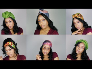 6 QUICK & EASY HEADWRAP/TURBAN STYLES FOR ANY HAIRSTYLE