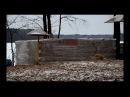 Постройка крещенской бани у спасательной станции в Белых Берегах 13.01.2018