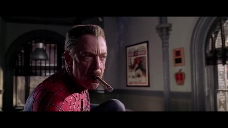 Джей Джона Джеймсон в костюме Человека паука