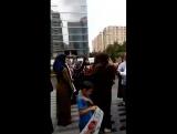 Акция протеста мусульманок в Азербайджане против геноцида мусульман в Мьянме.