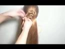 Интересное плетение волос!