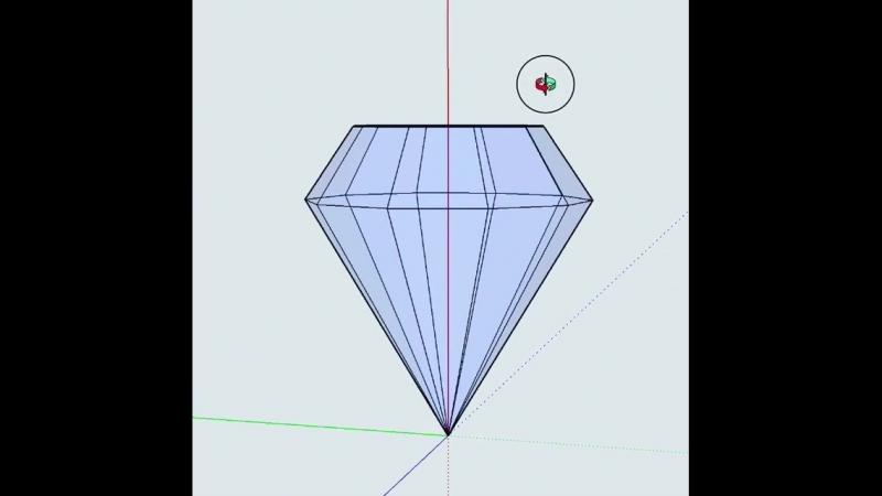 Начала эксперементировать💎 sketchup diamond 3dmodel 3dmodeling
