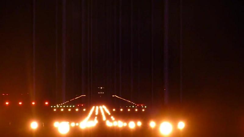 Bombardier CRJ 200 RusLine_ ночная посадка в Победилово