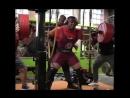 Ларри Уильямс - присед 370 кг