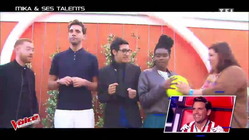 2017.05.27 The Voice 6_ep.14 Mika_entraine_ses_Talents_a_Roland_Garros