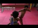 Muay Thai - How to do a Half Shin Half Knee Kick