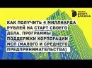 Как получить 4 миллиарда рублей на старт своего дела