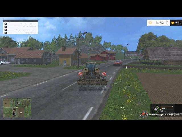 Обкатка трактора с культиватором Farming Simulator 2015