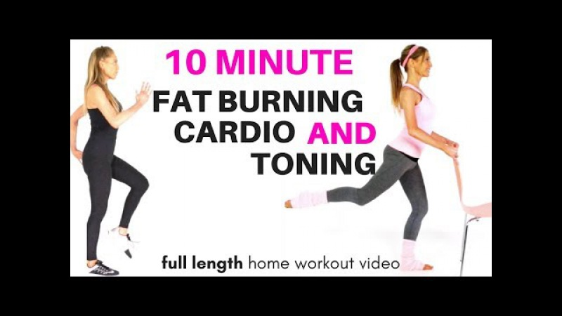 GET IN SHAPE AT HOME - FAT BURNING HOME CARDIO EXERCISE VIDEO - WITH A TONING WORKOUT FOR WOMEN