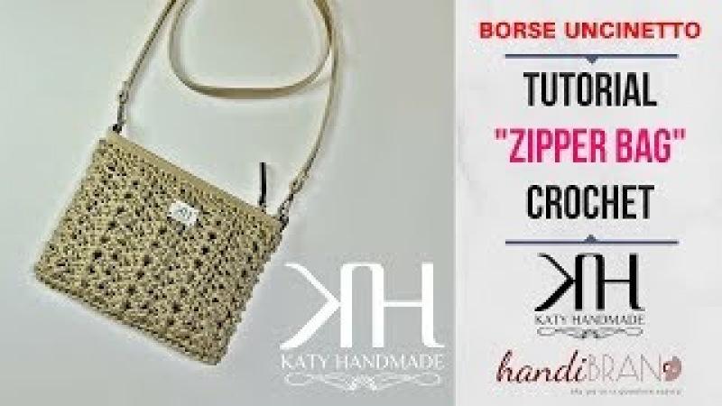 TUTORIAL POCHETTE UNCINETTO Zipper - PUNTO FANTASIA - Collab. w/HANDIBRAND ● Katy Handmade
