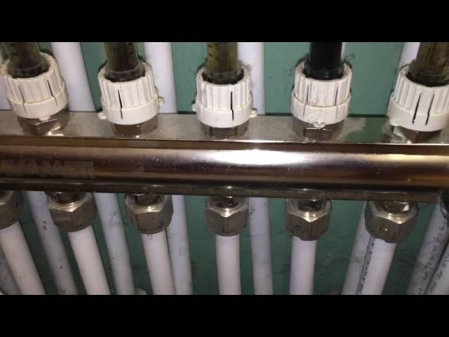 Настройка коллектор отопления,чистка расходомера
