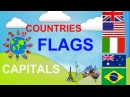 Geography video for kids Countries Capitals Flags for children. fun Educational video for kids