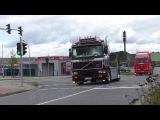 VOLVO F16 + 2x SCANIA 143M V8 420 - Loud Sound [HD]
