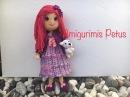Como unir las manos al cuerpo y como tejer vestido muñeca Melany amigurumis Petus TERCERA PARTE 3/9
