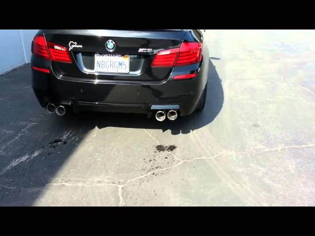 BMW F10 звук выхлопа M5