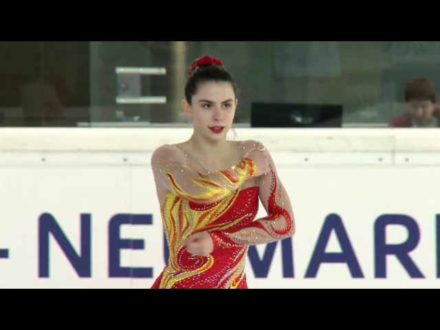 Katarina KITAROVIC CRO Ladies Short Program EGNA-NEUMARKT 2017