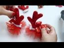 Como Decorar Par de Moños para Navidad Cuernos de Reno
