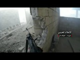 Syria War Syrian Army Helmet Cam GoPro Combat - Heavy Clashes With ISIS During Combat In Abu Kamal