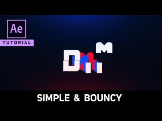 Create Simple Bouncy Logo Animation in After Effects - Complete After Effects Tutorial