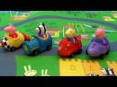 Peppa Pig in english. New Toy Mega Mat Peppa Pig and little brother George. Peppa Pig Buggies