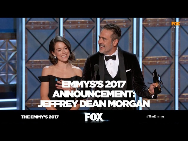 THE EMMY'S 2017   Jeffrey Dean Morgan rocks announcement blunder   FOX