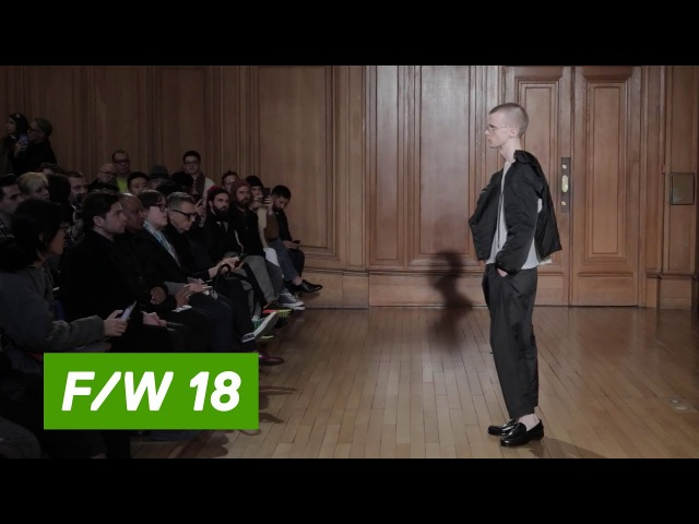 Hed Mayner Fall Winter 2018 19 PFW Paris Prêt à porter Homme