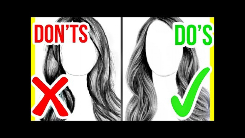DO'S DON'TS How to Draw Realistic Hair Step by Step Drawing Tutorial