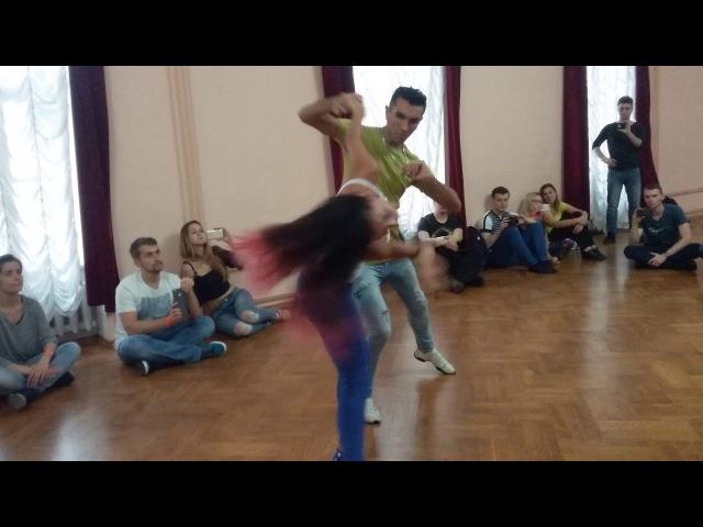 Michael Boy and Aline Borges. Brazuka dance festival 2017.