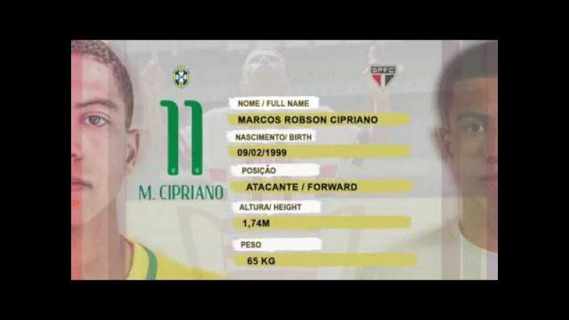 Marquinhos Cipriano - Forward Seleção Brasileira São Paulo F.C Sub20