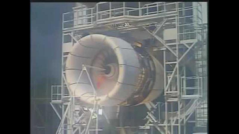 Взрыв турбореактивного двигателя