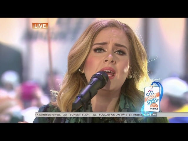Adele - Million Years Ago (Live at The Today Show 2015)