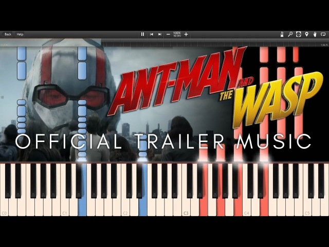 Ant-Man and the Wasp Official Trailer Music (Synthesia Piano Tutorial)SHEETSMIDI