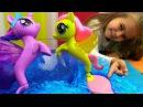 Видео для девочек МайЛитлПони: Флаттершай превращается в РУСАЛКУ! Игрушки для д