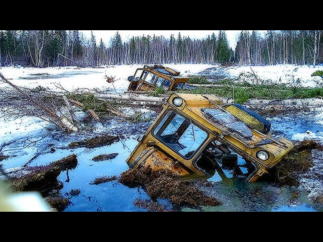 НЕРЕАЛЬНО СИЛЬНО Засадили БУЛЬДОЗЕР В БОЛОТЕ. ТРАКТОРЫ БУЛЬДОЗЕРЫ на Бездорожье Bulldozer OFF-ROAD