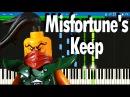 Ninjago Skybound - Misfortunes Keep song Synthesia Piano Tutorial