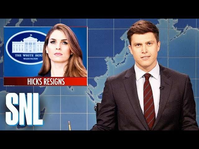 Weekend Update on Hope Hickss Resignation - SNL