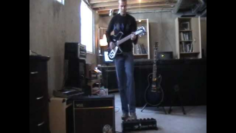 R.E.M. Harborcoat Cover with Rickenbacker 12 String Guitar MIDI Pedals.avi