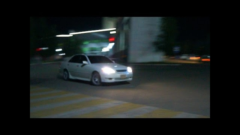Ночное движение HooligansTeamTND (Toyota Chaser jzx90, Toyota Mark II jzx110,Toyota Aristo 2jz-gte)