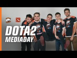 How to strike a pose? Having fun at mediaday with VP Dota 2 team