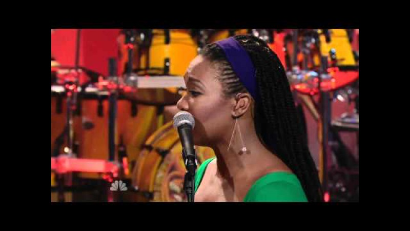 Santana w/India.Arie - While My Guitar Gently Weeps 9/16 Leno (TheAudioPerv.com)