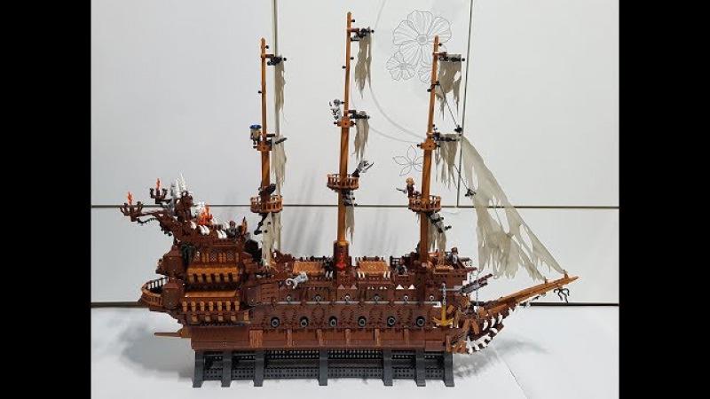 China Lego lepin 16016 Pirates of the Caribbean : Flying Dutchman 레핀 16016 캐리비안의 해적 플라잉 더치맨 조립영상