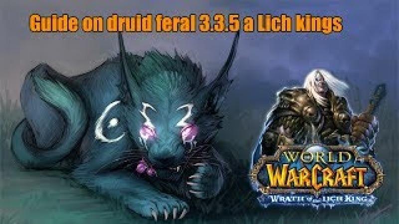 Гайд на ферала 3.3.5а PvE/Guide on druid feral 3.3.5a a Lich Kings