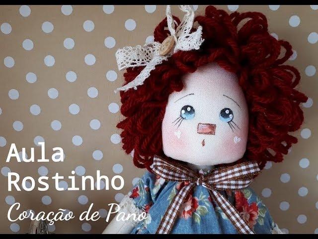 Rostinho de Boneca com Lápis de Cor - Téc. Atelier Coração de Pano