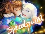 [Speedpaint] UNDERTALE - Comforting Asriel